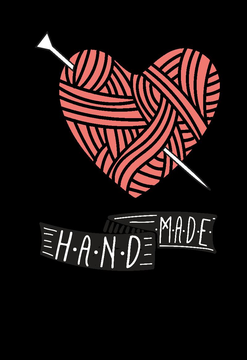 maglietta Knitted Heart Handmade
