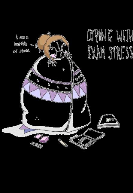 maglietta exam stress