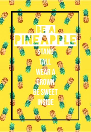 maglietta Be a Pineapple