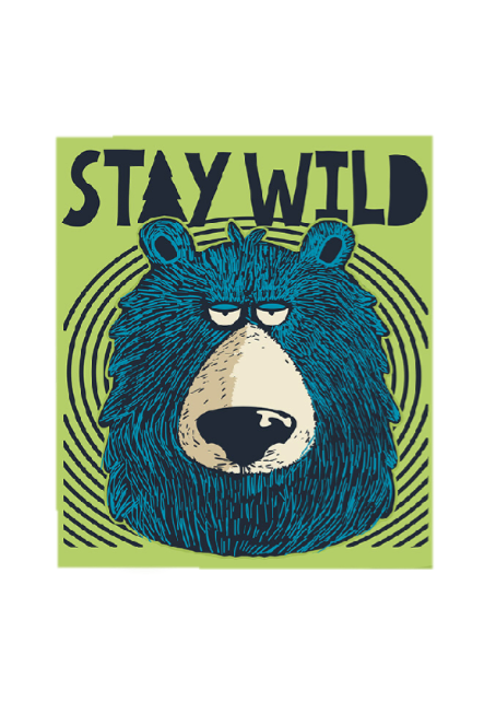 maglietta stay wild
