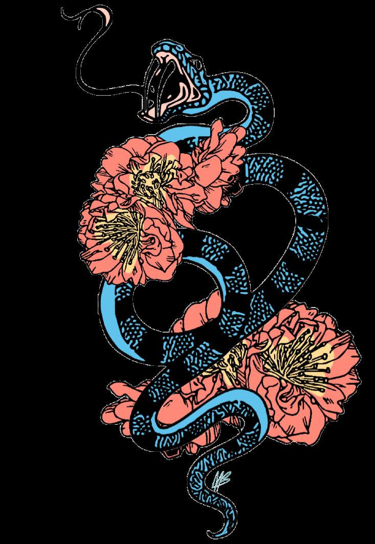 maglietta flower snake