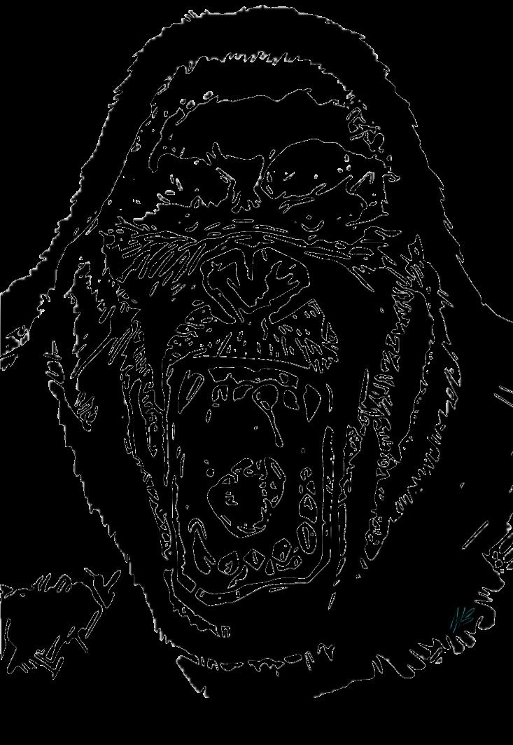 maglietta gorilla