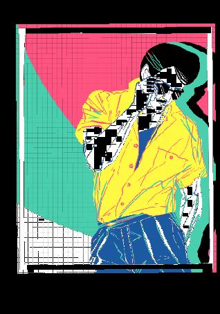 maglietta '80s dude//01