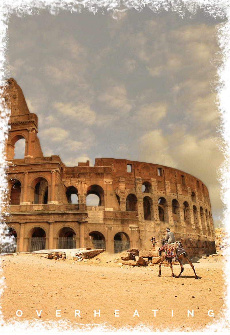 maglietta Misplaced Monuments: 'Overheating'