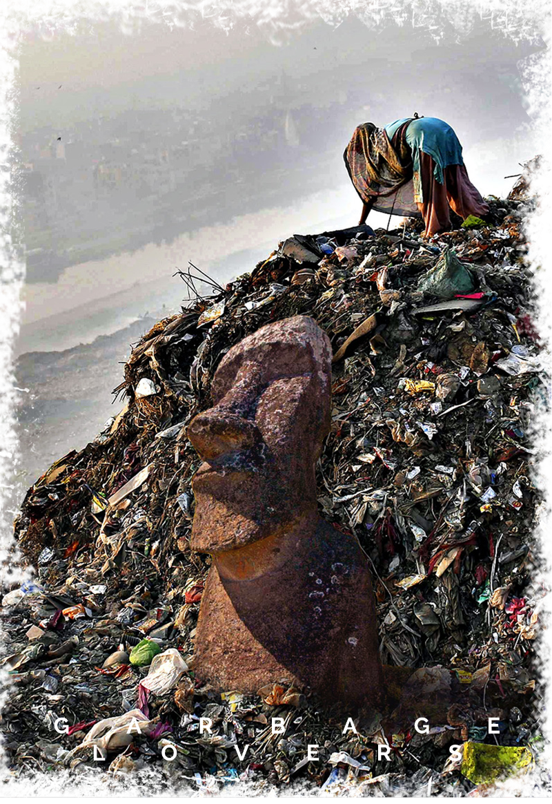 maglietta Misplaced Monuments: 'Garbage Lovers'