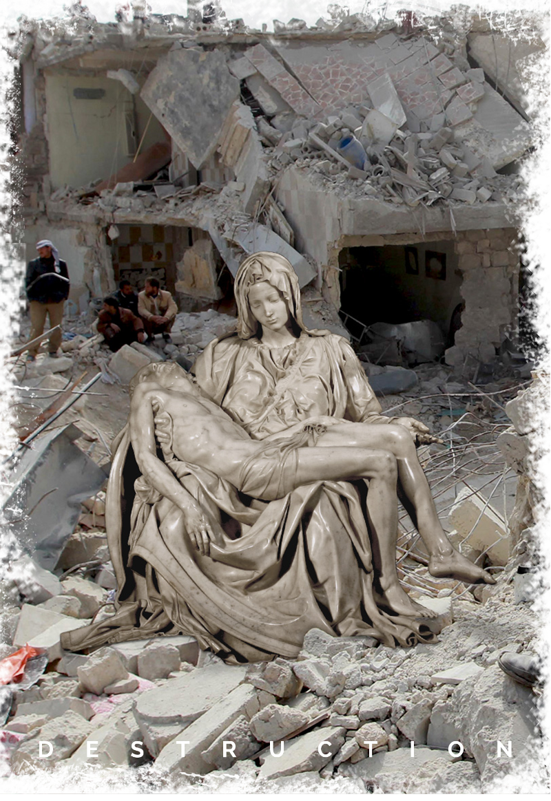 maglietta Misplaced Monuments: 'Destruction'