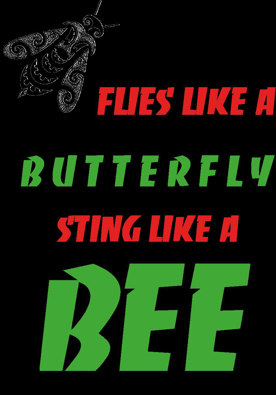 maglietta Flies like a Butterfly, sting like a Bee