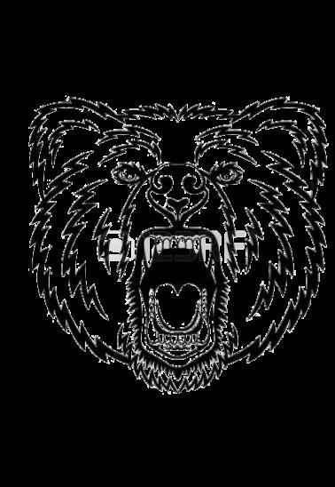 maglietta orso che ruggisce
