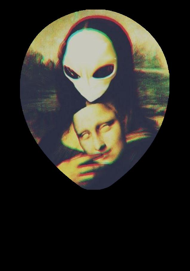 maglietta Mona Lisa - Alien