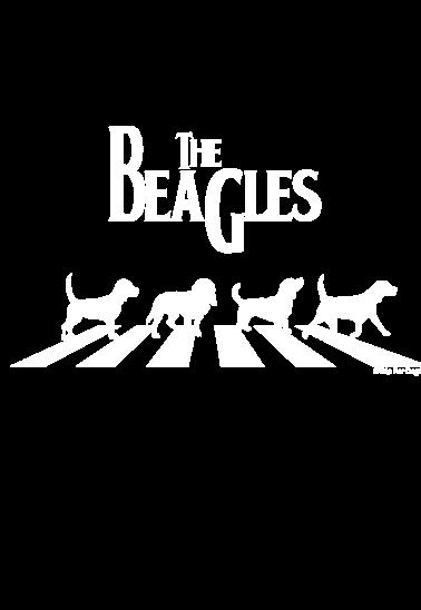 maglietta the beagles bianco su nero