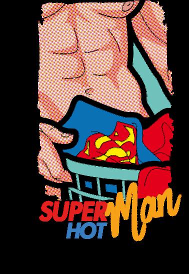 maglietta SUPER (HOT) MAN!