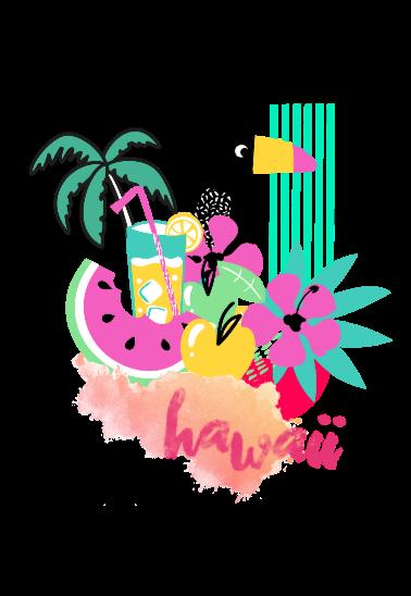maglietta Hawaii