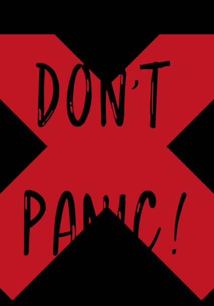 maglietta Don't panic!