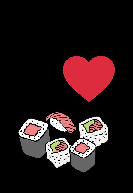 maglietta sushi