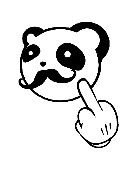 maglietta Pandafuck