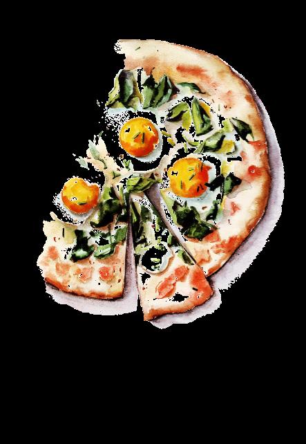 maglietta PIZZA WATERCOLOR