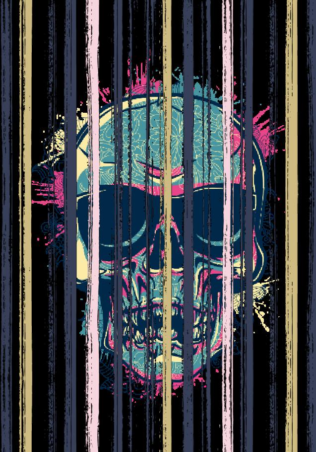 maglietta prison's skull
