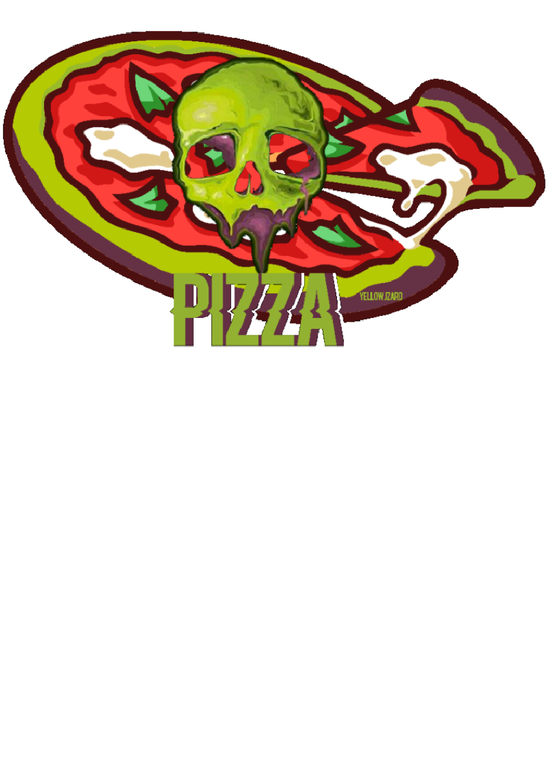 maglietta SKULL PIZZA