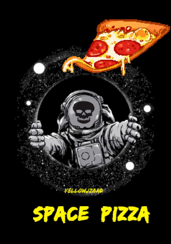 maglietta spacepizza