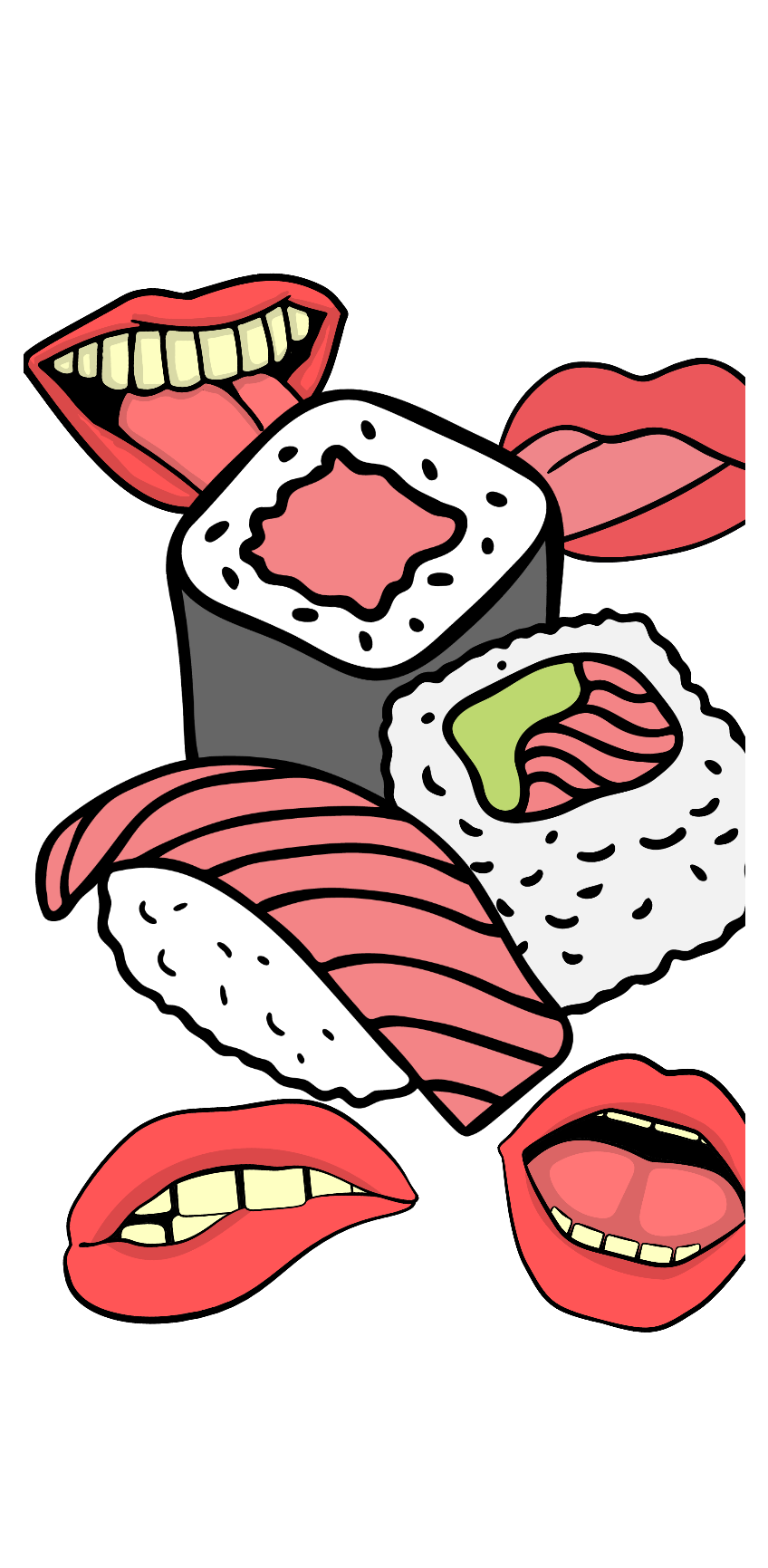 cover sushi porn