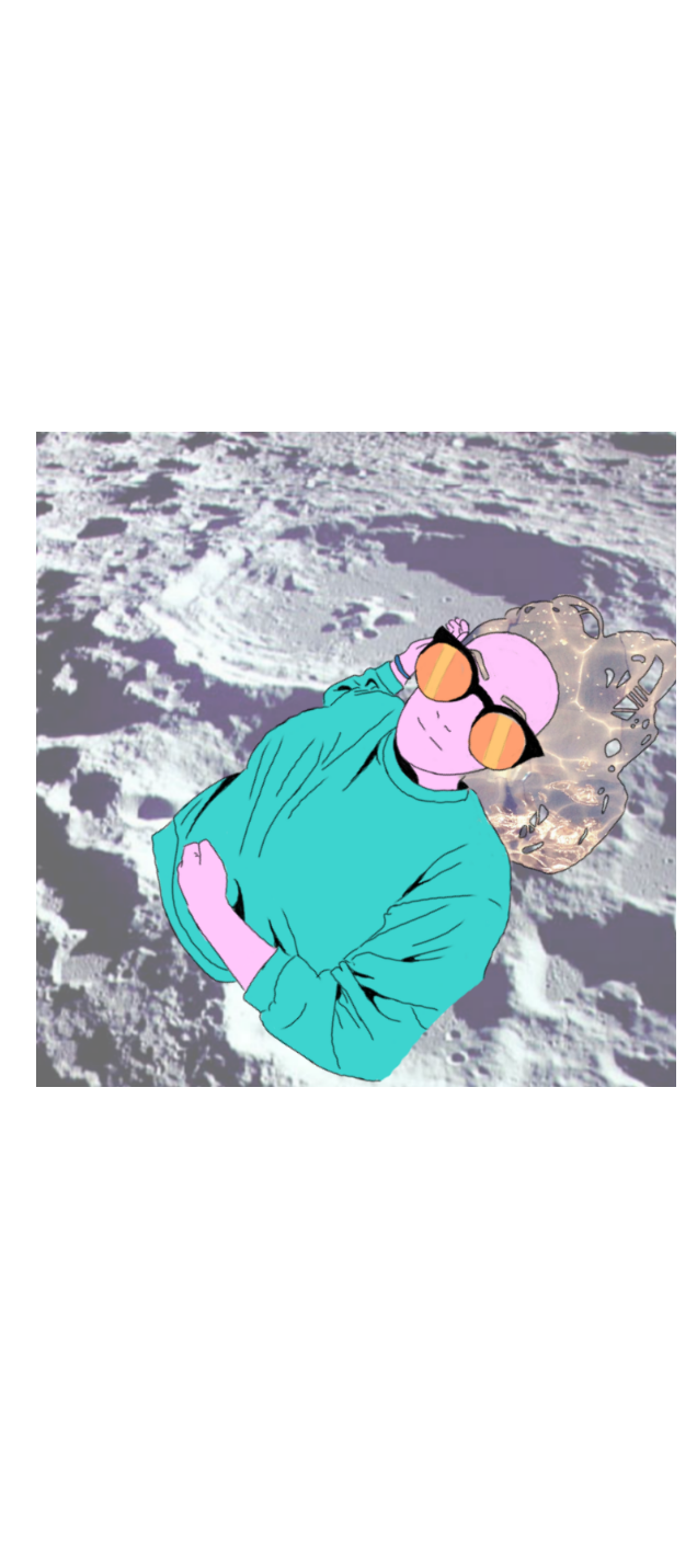 cover girl on the moon