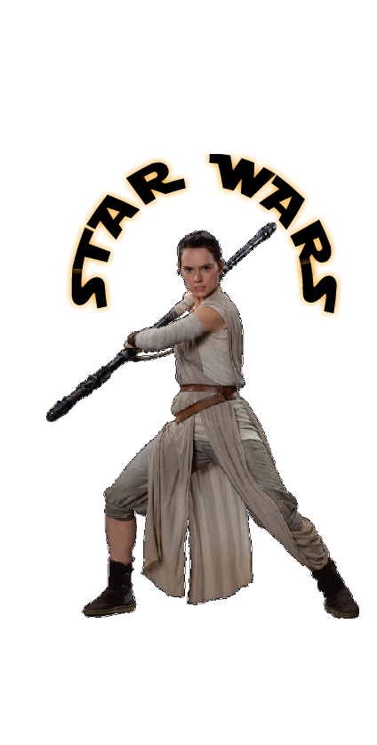 cover Star Wars Rey t shirt cover jumper