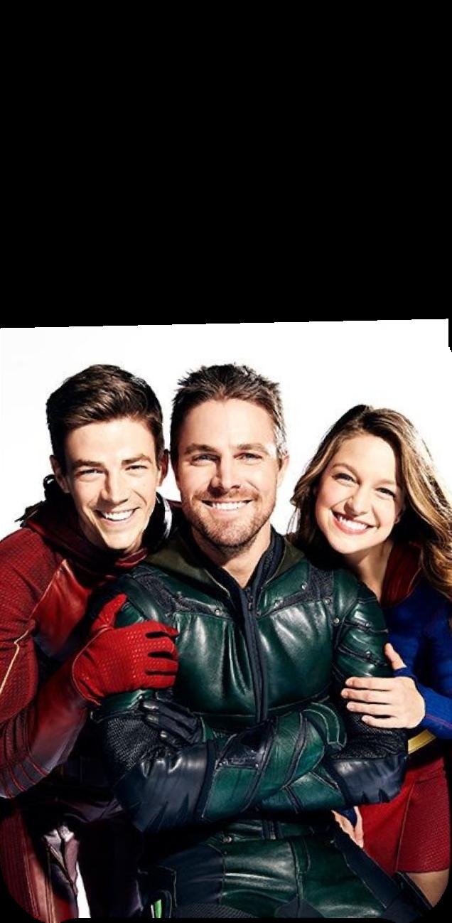 cover gadgets con flash, Arrow e supergirl