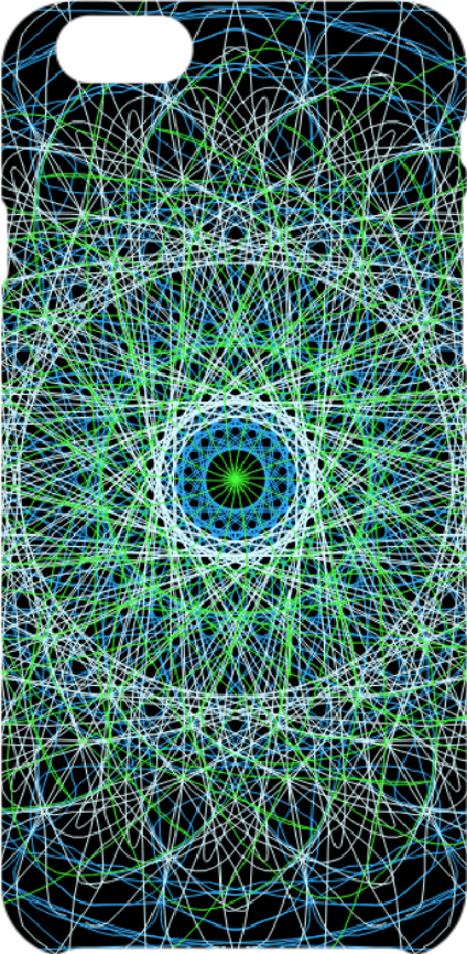 cover Radial blue and green