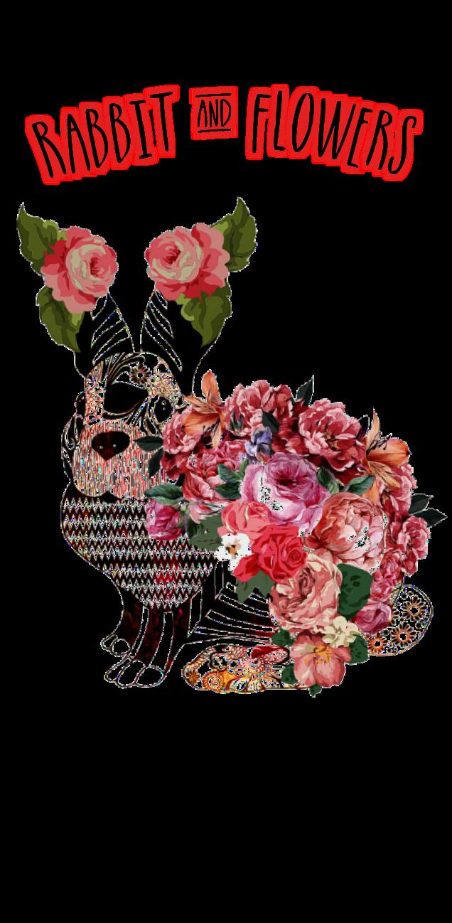 cover Rabbit & Flowers