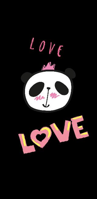 cover cover e t-shirt a strisce con panda