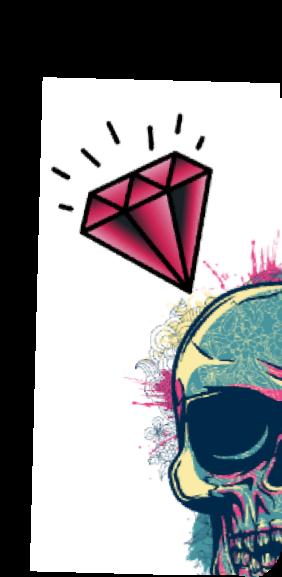cover teschio rosa