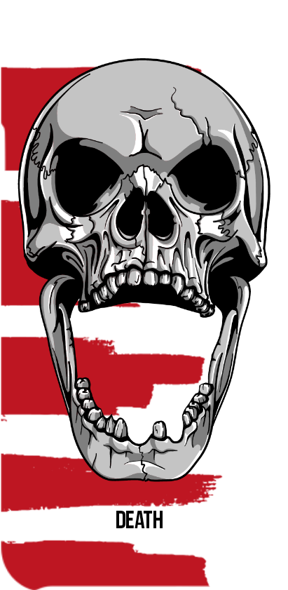 cover Skull - White and Red