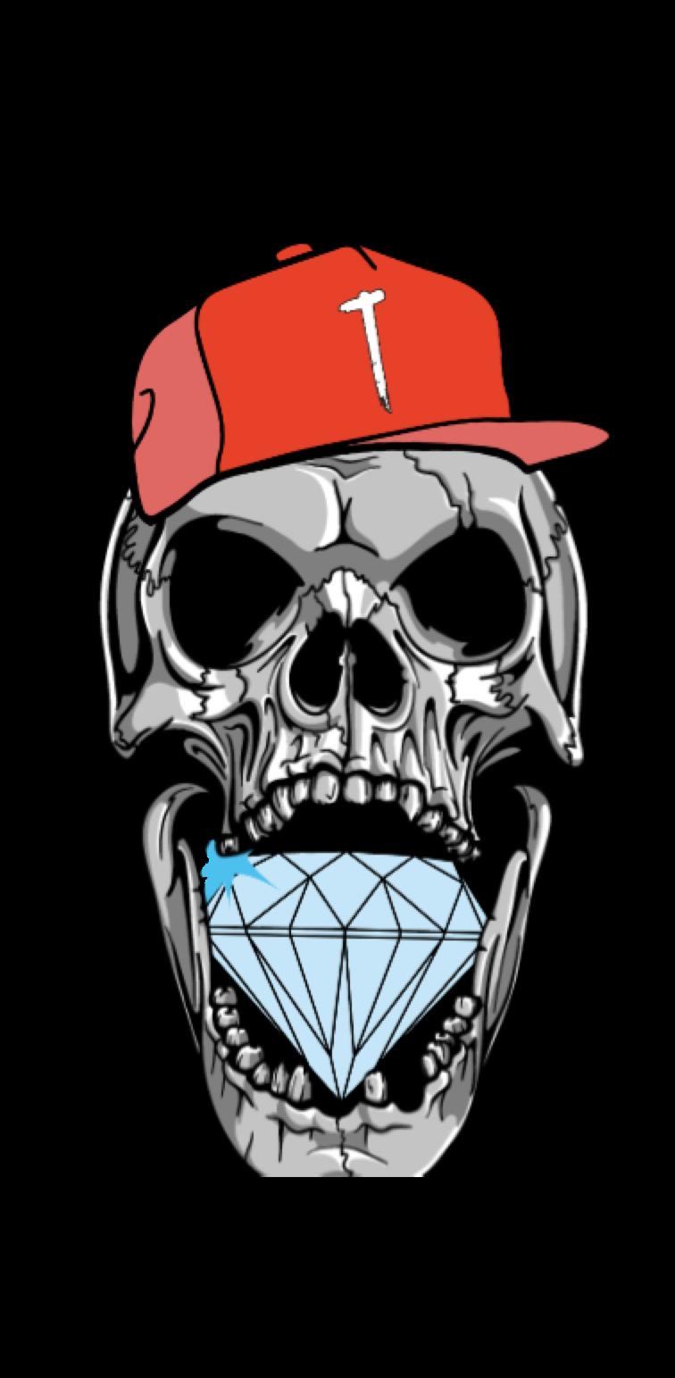 cover skeleton head