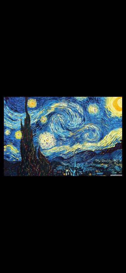 cover LA NOTTE STELLATA di Van Gogh