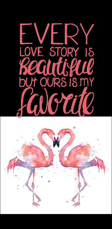 cover Flamingos in love