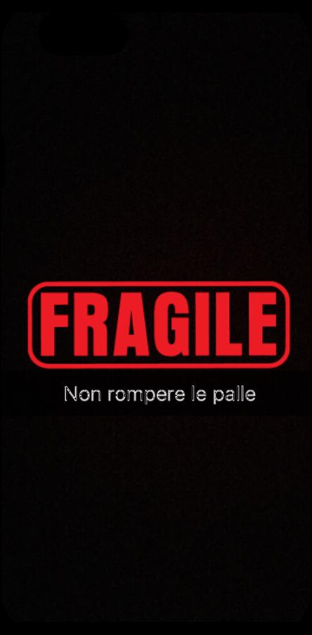 cover Fragile, non rompere le palle.