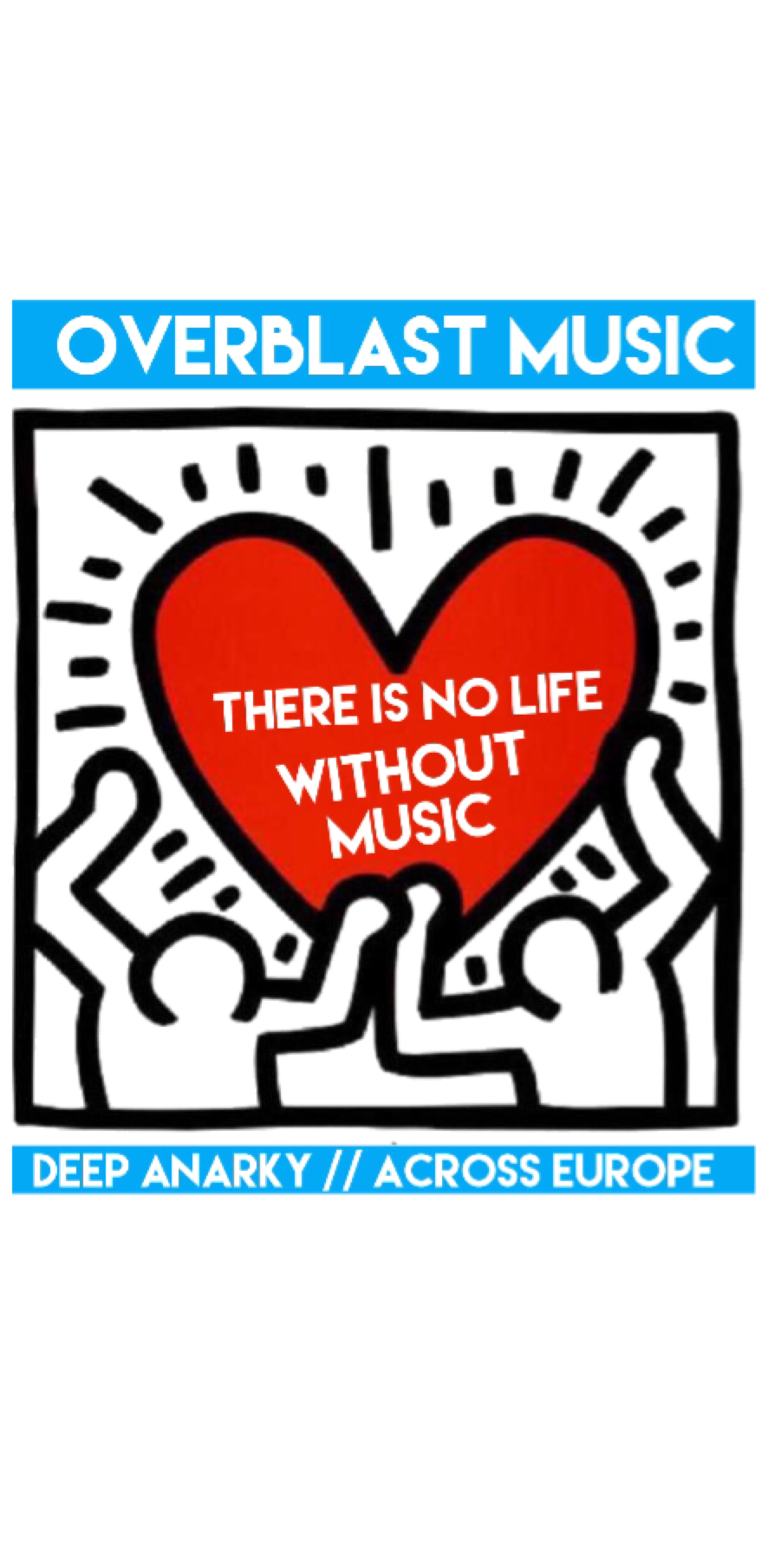 cover Overblast Haring Heart there is no life without music