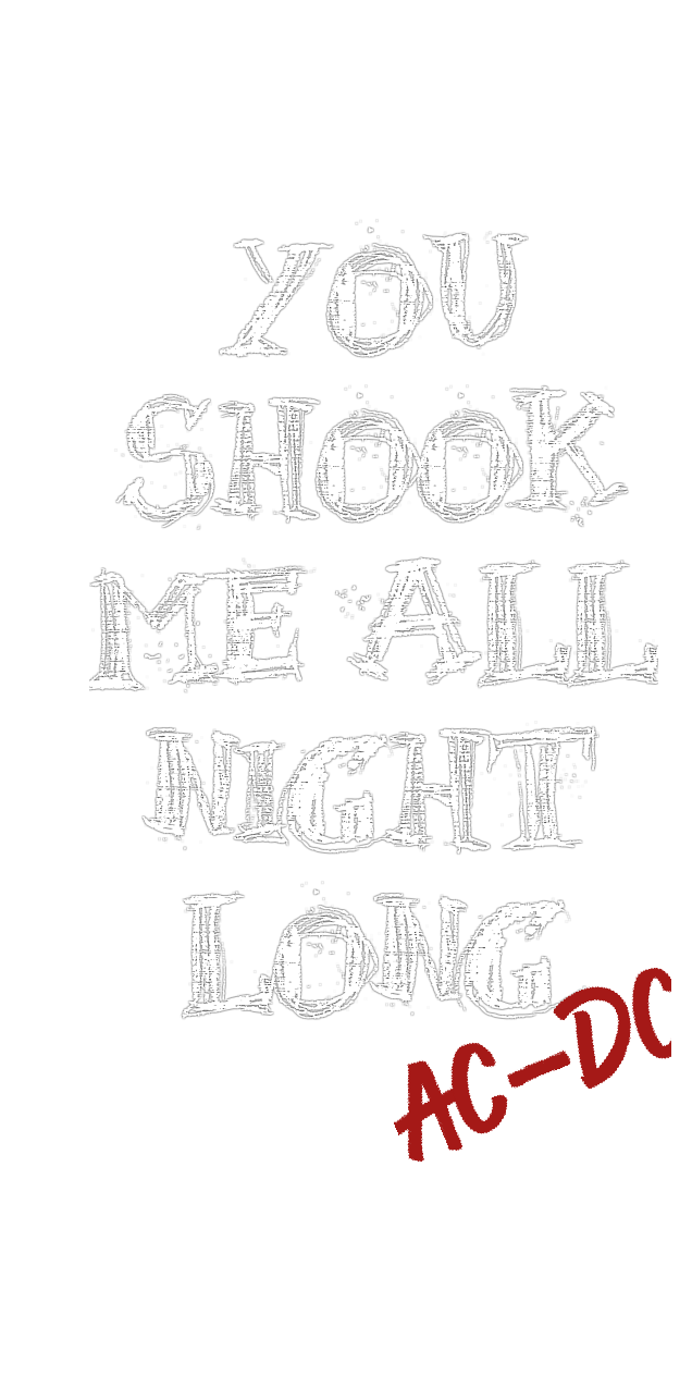 cover AC DC 'You Shook Me All Night Long'