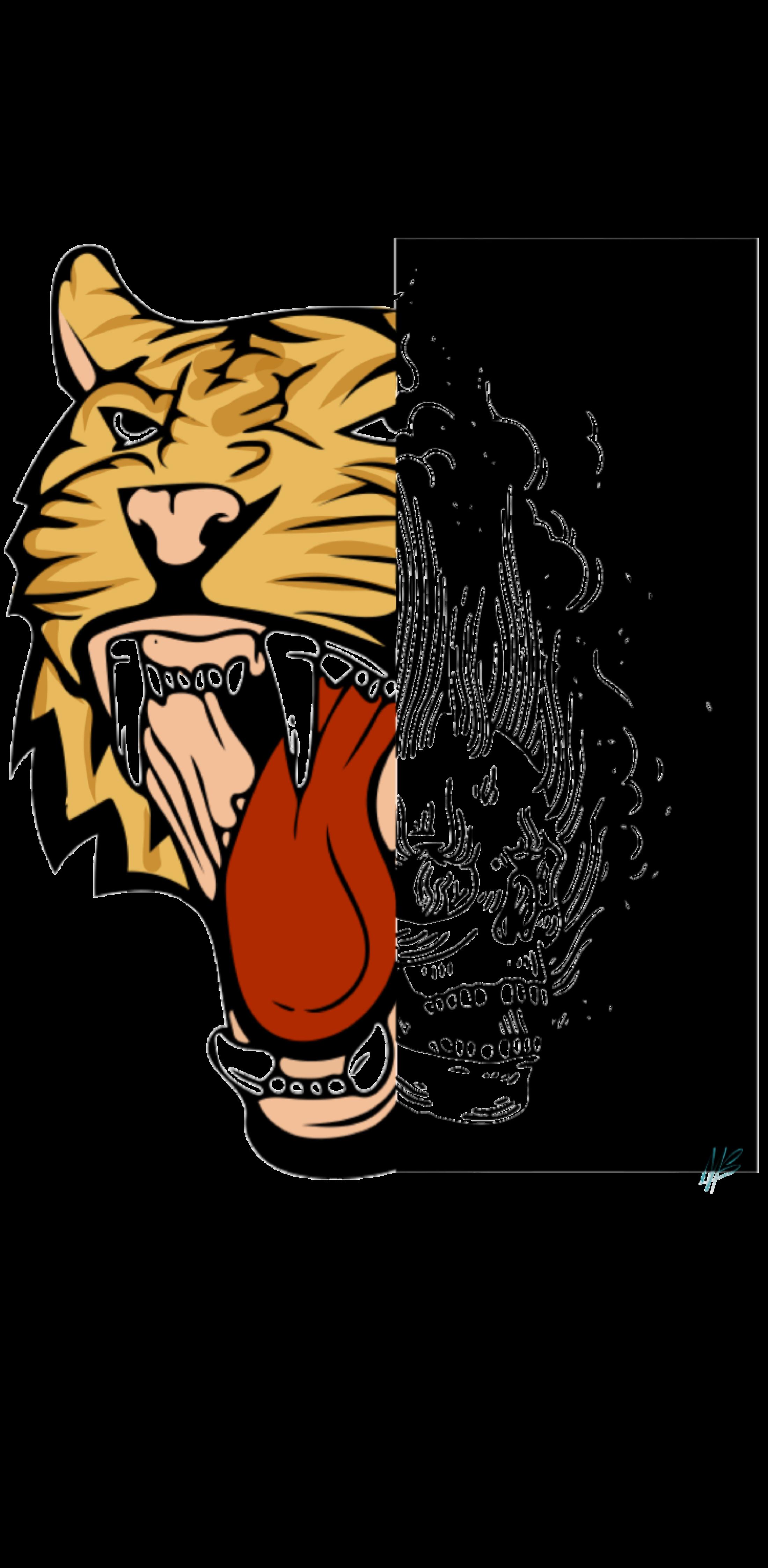 cover tiger skull